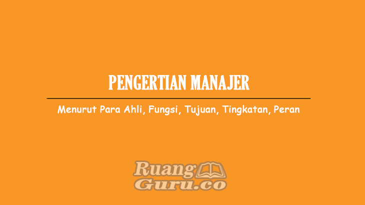 Pengertian-Manager